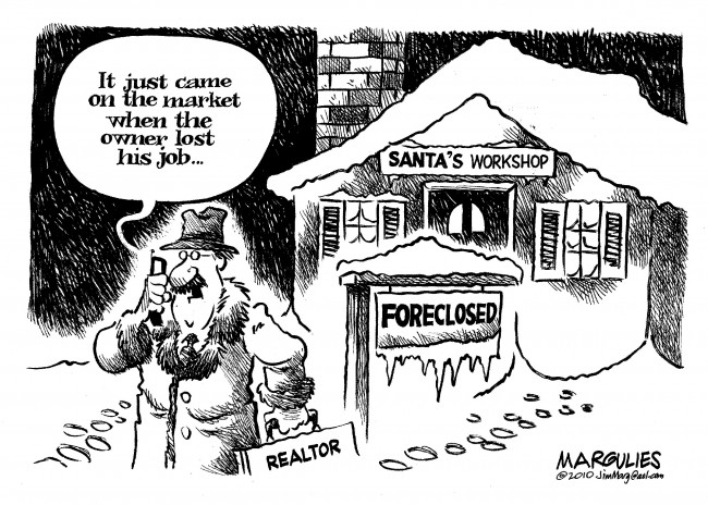 Santa Claus foreclosure